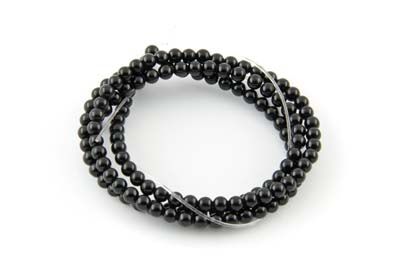 black onyx round 4mm x1 std (approx 95pcs)