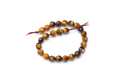 faceted round tiger eye 4mm x1fil
