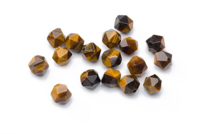 Tiger Eye Nugget Faceted 8x7mm x1 Strand (Approx 49pcs)