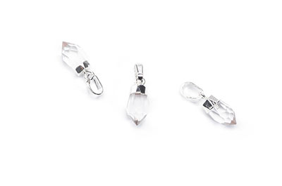 rock crystal pendant 6X11mm, Silver Color x1pce