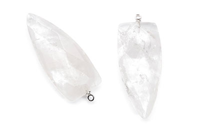 crystal pendant faceted arrowhead 18X40mm x2pcs
