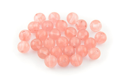 cherry quartz ronde 8mm x1 fil (env 49pcs)