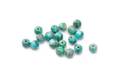turquoise Bead synthetic irregular 6mm x1fil (approx 66pcs)