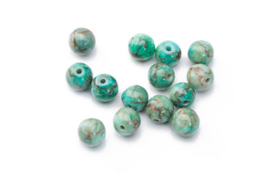 turquoise Beadl synthetic irregular 8mm x1fil (approx 50pcs)
