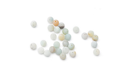 perle amazonite multicolore mat ronde 4mm  x1fil