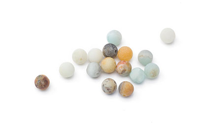 bead amazonite multicolor matte round 6mm x1fil