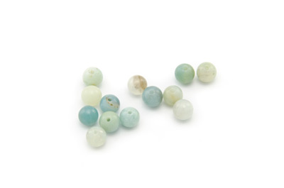 perle amazonite multicolore ronde 6mm x1 fil (env 66pcs)