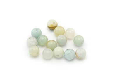 perle amazonite multicolore ronde 8mm x1 fil (env 50pcs)