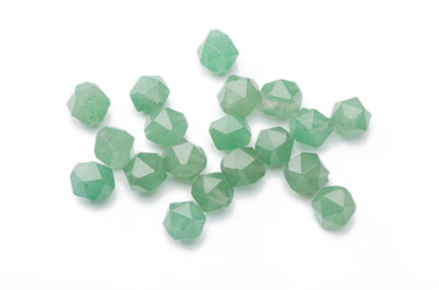 perle aventurine nugget facetée 8x7mm x1 fil (env 49pcs)