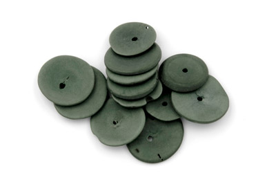 disk ~20mm khaki green 20pcs
