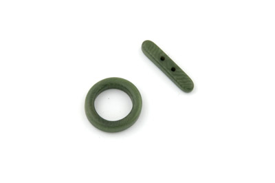 clasp ring 20mm olive green 4pcs