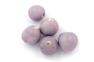 round bead ~20mm mauve 10pcs