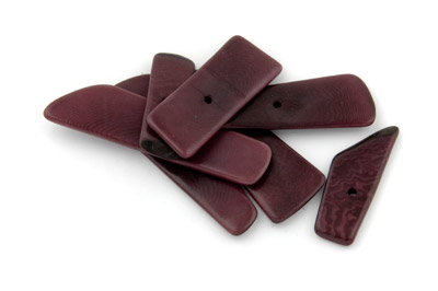 spacer rectangle ~40*14mm plum 10pcs