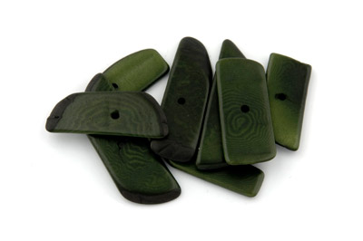 spacer rectangle ~40*14mm olive green 10pcs
