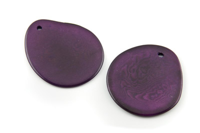pendant slice ~40mm purple 10pcs