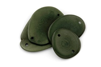 slice 2 holes ~40mm olive green 10pcs