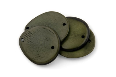 slice 2 holes ~40mm khaki green 10pcs