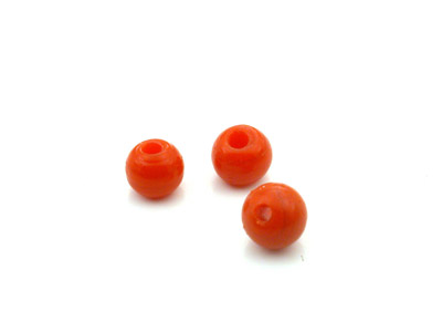 ronde 7mm corail brillant 150g