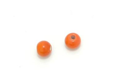 ronde 10mm orange brillant 10mm 150g