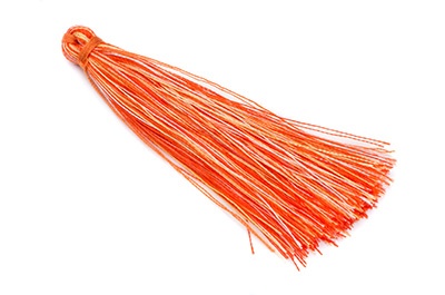 pompon 65mm orange x10pcs