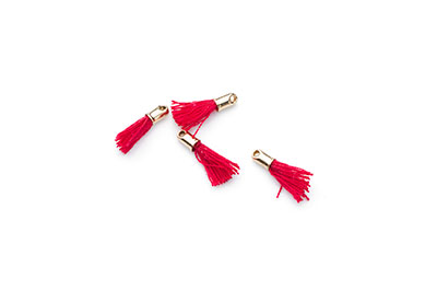 tassel burgundy 12mm gold tip x20pcs