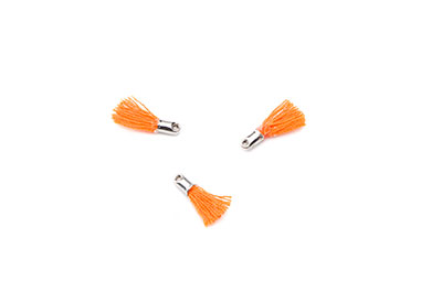pompon 12mm orange embout rhodié x20pcs