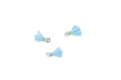 tassel 10mm light blue x20pcs
