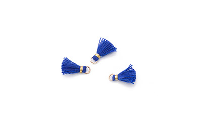 pompon 10mm lapis blue x20pcs