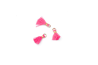 pompon 10mm rose fuchsia x20pcs