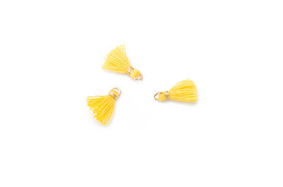 pompon 10mm yellow x20pcs