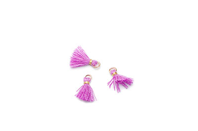 tassel 10mm purple x20pcs