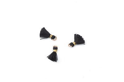 tassel 10mm black x20pcs