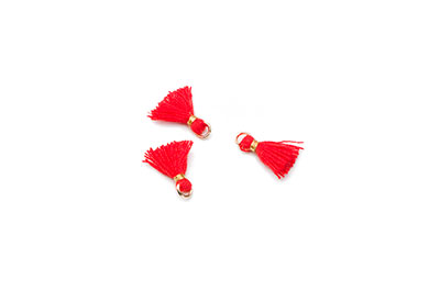 pompon 10mm rouge x20pcs