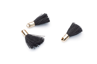 tassel 18mm black gold tip x20pcs