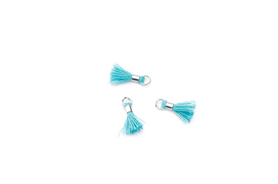 tassel 12mm aqua rhodium ring x20pcs
