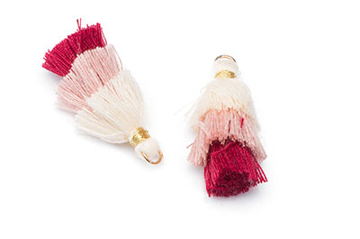tassel 3 colors ivory bordeaux approx 30mm x4pcs