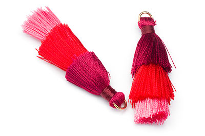 tassel 3 colors bordeaux red approx 40mm x3pcs