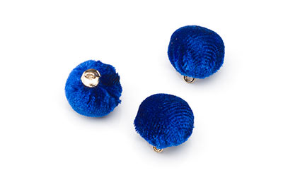 velvet tassel 15mm royal blue x20pcs