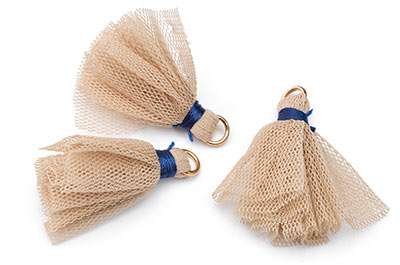 tassel fabric 30mm beige x20pcs