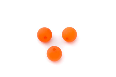 perle polaris ronde mat 10mm orange x30pcs