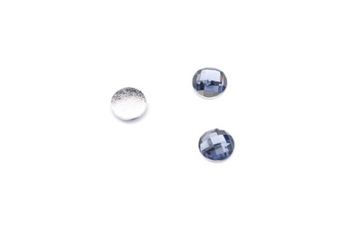 acrylic cabochon facetted round 8mm blue grey x100pcs