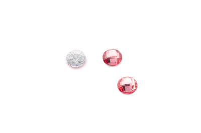 acrylic cabochon facetted round 8mm grenadine x100pcs