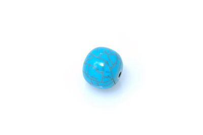 acrylic beads round cracked 18mm by 20 pces