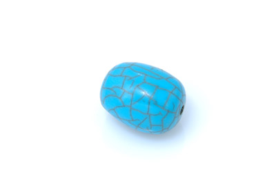 acrylic beads barrel cracked 20*25mm by 12 pces