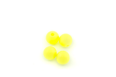 silicon beads round 10mm neon yellow x100pcs