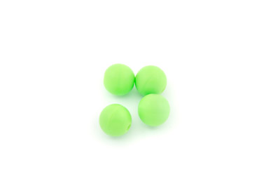 silicon beads round 10mm neon green x100pcs