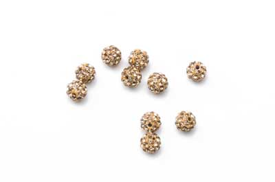 shamballa Perle 6mm goldenes x10pcs