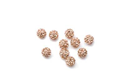 shamballa bead 6mm nude x10pcs