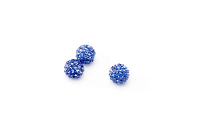 shamballa bead 8mm blue x10pcs