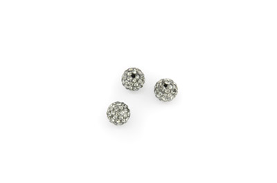 shamballa beads 8mm dark grey x10pcs